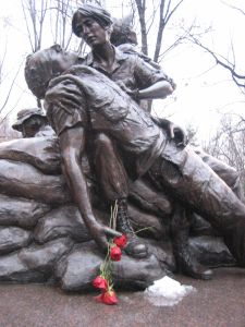 Memorial for women who fought and aided in the Vietnam War